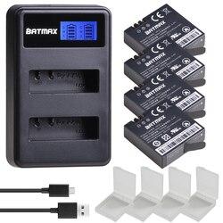 4Pcs 1400mAh 3.85V Battery AZ16-1 + LCD USB Dual Charger for Original Xiaomi Yi 2 4K Original Xiao Mi Yi Lite Action Cameras