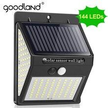 Goodland – applique murale solaire à 100 led avec détecteur de mouvement, imperméable, éclairage d'extérieur, idéal pour la rue, 1 pièces