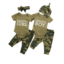 2020 Fashion Newborn Toddler Baby Clothes Set Girls Boys Outfits Suit Mommy Sayings Top Camo Printed T-Shirt Pants+Hats Romper new 3pcs newborn baby boys girls christmas clothes crawl walk hunt romper deer pants hats caps xmas elk outfits toddler baby set