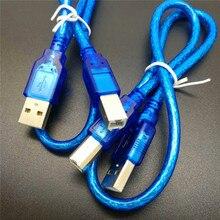 50CM Blue USB 2.0 Type A Male to Type B Male Power Data Tran