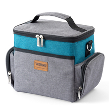 Fashion Portable Lunch Bag Soft Cooler Picnic Pouch For Food Women Men Outdoor Beach Bags