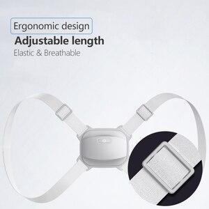 Image 4 - Corrector de detección inteligente de espalda entrenador de postura eléctrico soporteinteligente, cinturón de sujeción columna vertebral hombro madera corrección de postura
