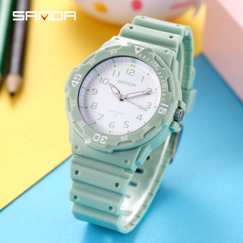 Green Wrist Watches Women Quartz Small Watch Fashion White Clock Brand Ulzzang Watch Luminous Japan Movt Ladies Star Waterproof himouto umaru chan japan anime led watch waterproof touch screen women wrist watches comics cartoon christmas gift