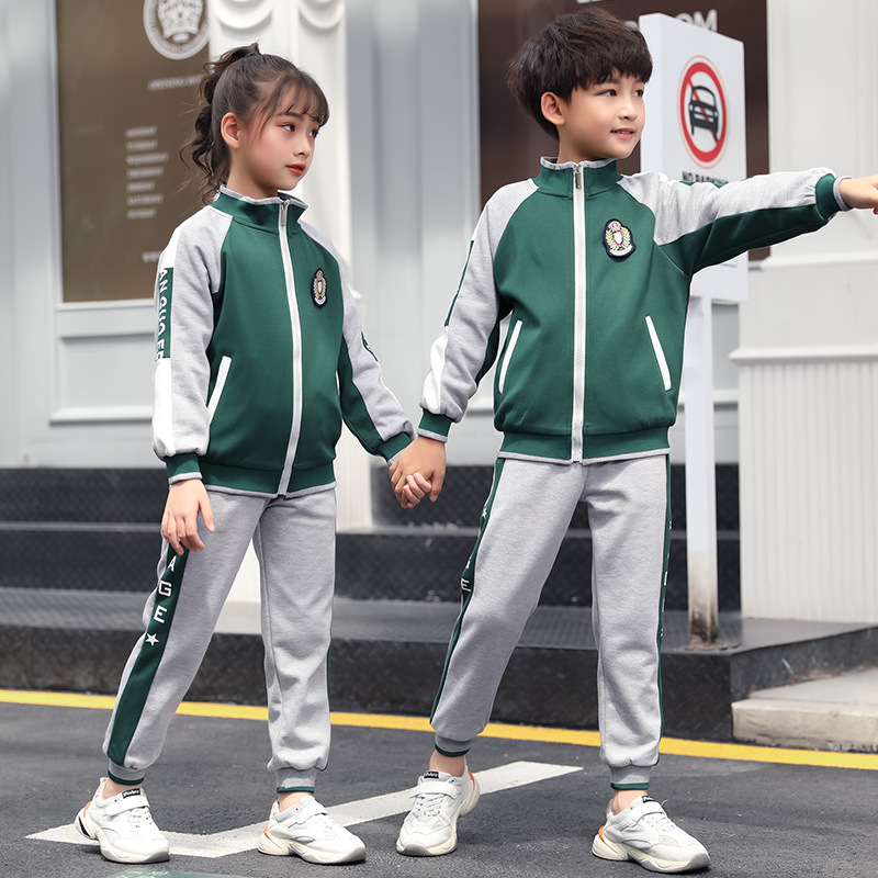 Kindergarten Suit Spring And Autumn New Style Fashion Sports Clothing Set British Style Primary School STUDENT'S School Uniform