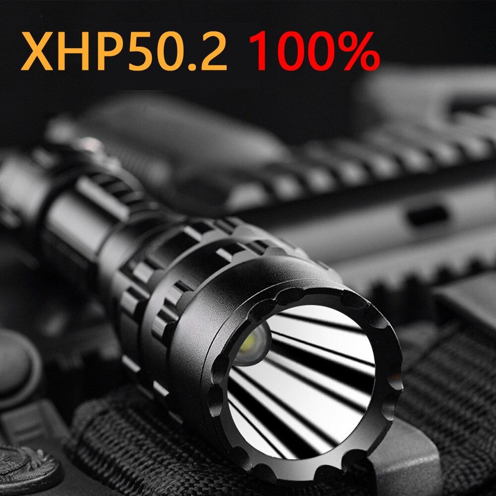 150000cd XHP50.2 Tactical Led Flashlight Surefir USB Powerful Torch 18650 Or 26650 Battery Waterproof Hunting Light Hand XML2