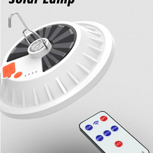 Lantern Bulb-Lamp Remote-Control Night-Market-Light Solar-Charge Outdoor Portable Camping