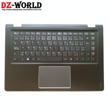 Palmrest Upper Case With Canadian French Backlit Keyboard Touchpad for Lenovo Yoga 3-14 Yoga 3-1470 Laptop C Cover 5CB0H35654