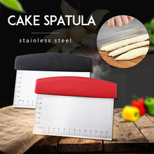 Professional Stainless Steel Pizza Dough Scraper Cutter Baking Pastry Spatulas Fondant Cake Decoration Tools Kitchen Accessories