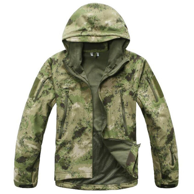 TAD Gear Tactical Softshell Camouflage Jacket Set Men Army Windbreaker Waterproof Hunting Clothes Camo Military Jacket andPants 5