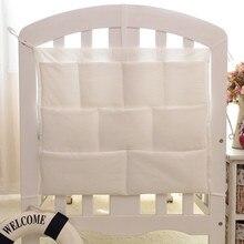 9 цветов, органайзер для детской кроватки, набор постельного белья, подвесная сумка для хранения, хлопок, для новорожденной кроватки, игрушки, подгузники, детская кроватка, карман, сумка для кормления