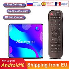 Caixa de tv inteligente android 10 x88 rro 10 rk3188 4k duplo wifi bt media player rápido inteligente android tv caixa superior caixa conjunto vs h96 iptv