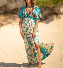 Купальный костюм платье для женщин богемное бикини с эластичной