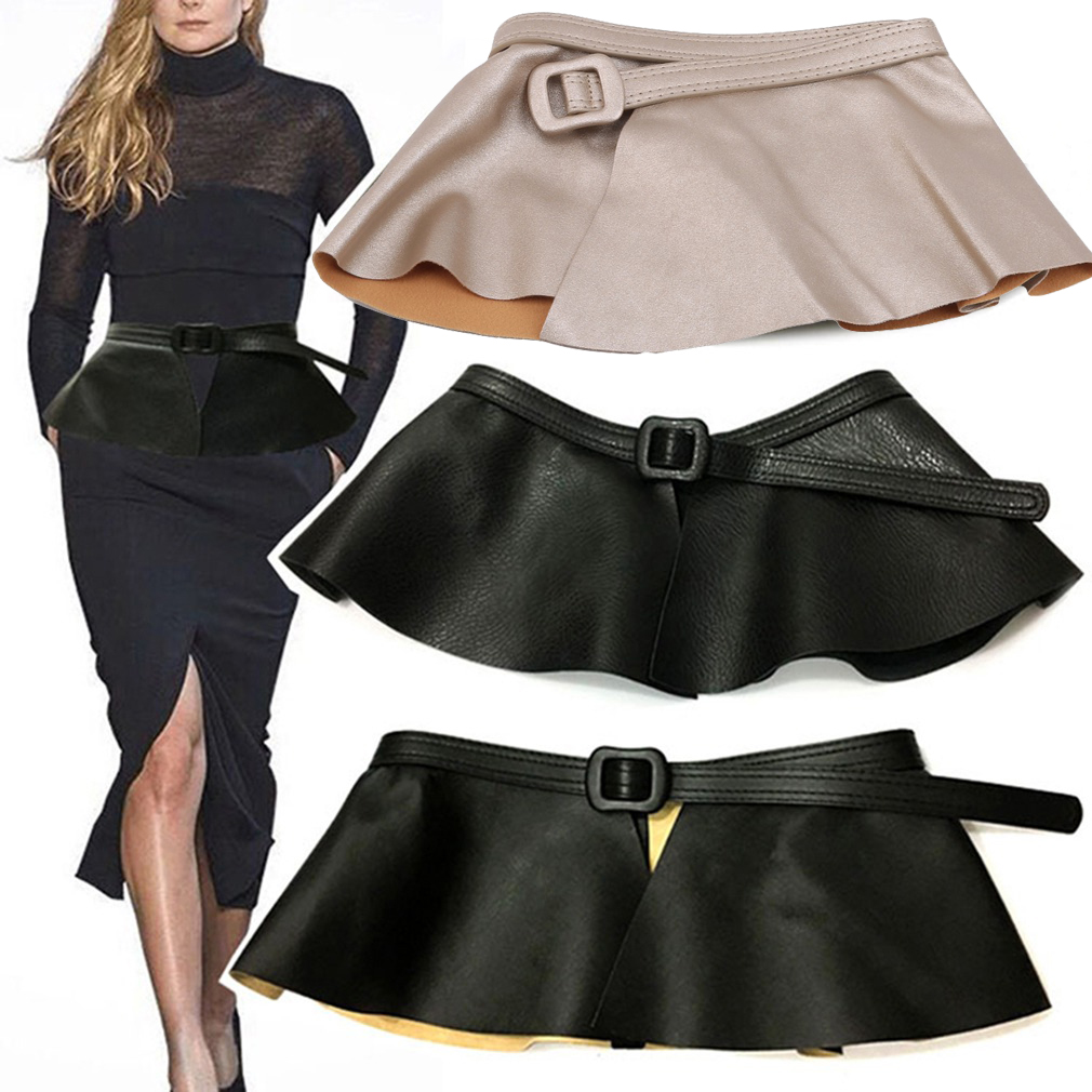 Faux Leather Belt 2019 Luxury Belts For Women Cummerbunds Waist Band Corset Belt For Dress Skirt Waistband Buckle Belt Black