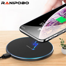 Qi Draadloze Oplader Fast Charger Desktop Telefoon Draadloze Oplader Voor Universele Telefoon Voor Iphone Samsung Xiaomi Huawei Charger Pad