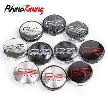 Tapas de rueda de carreras de 60mm y 56mm OZ, bujes de cubierta central para llantas de coche, emblema de embellecedores, para Fabia Yeti Rapid Superb Rial Imola, 1 unidad
