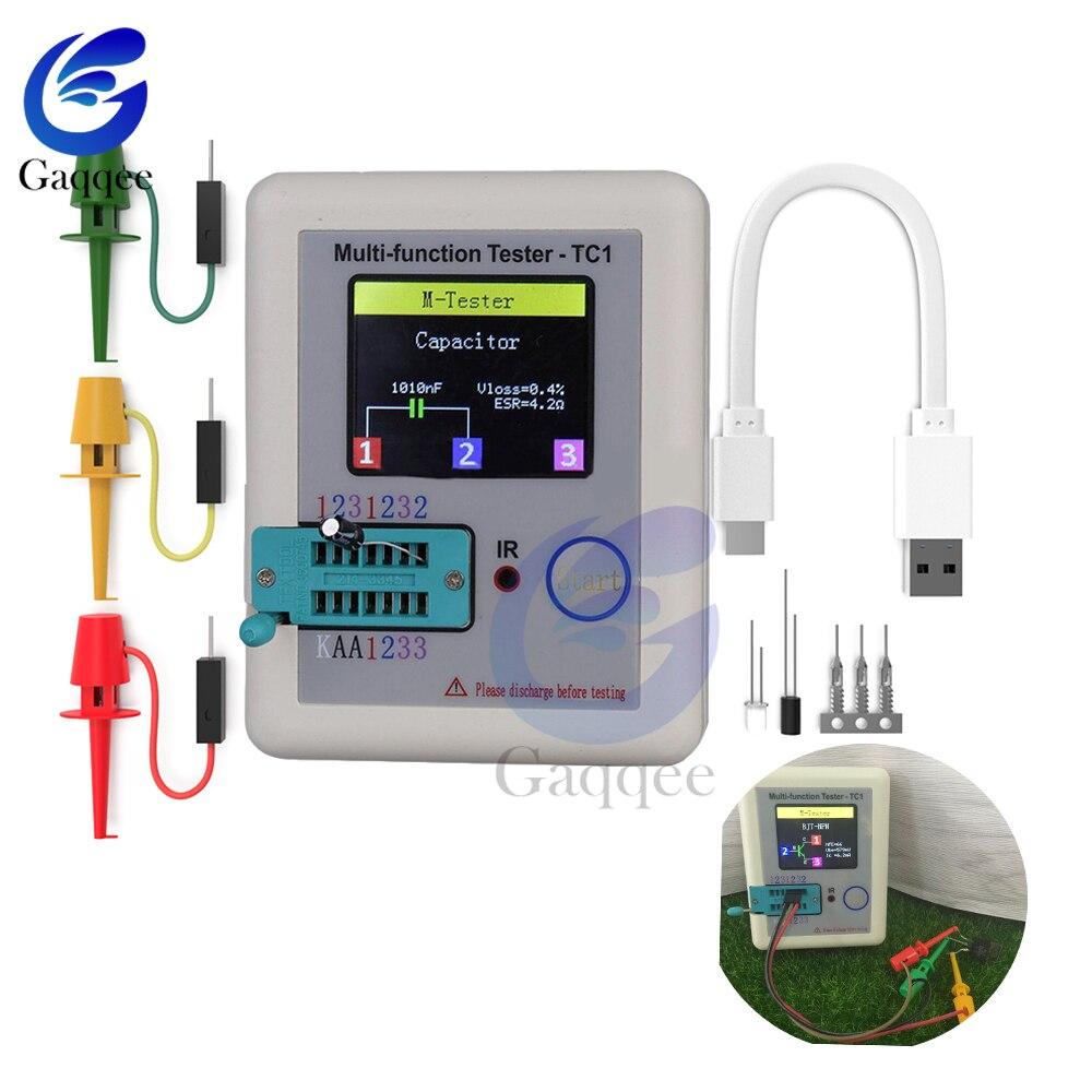 LCR-TC1 Transistor Tester TFT Diode Triode Capacitance Meter LCR ESR NPN PNP MOSFET Resistor Test LCD 3.5 inch TFT Multimeter