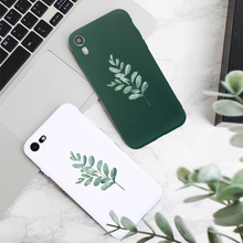 Luxury Phone Case For Iphone xr 8 7 Plus 6 6S Simple Aesthetic Branches Soft TPU Silicone X Xs Max