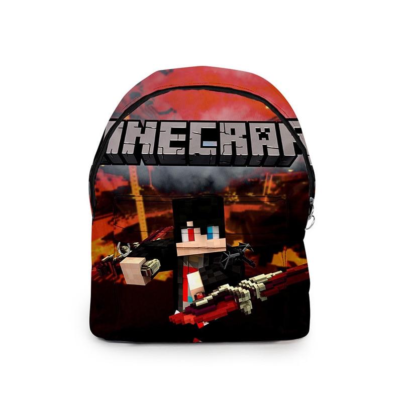 Minecraft-mochila creativa de lona de Color caqui, bolsa de deporte impermeable para estudiantes y jóvenes, 2020