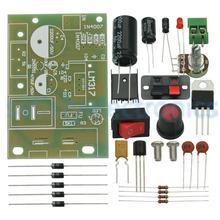 Dc 5v 35v LM317 diyキット降圧電源モジュールac/dc調整可能な電圧レギュレータとオン/オフスイッチ