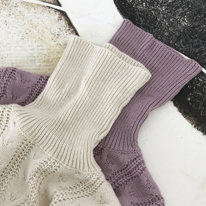 Image 3 - Autumn Winter Europe and United States Vintage womens wool dress thickening knit dress Casual Knitted Sweater Dresses 2019