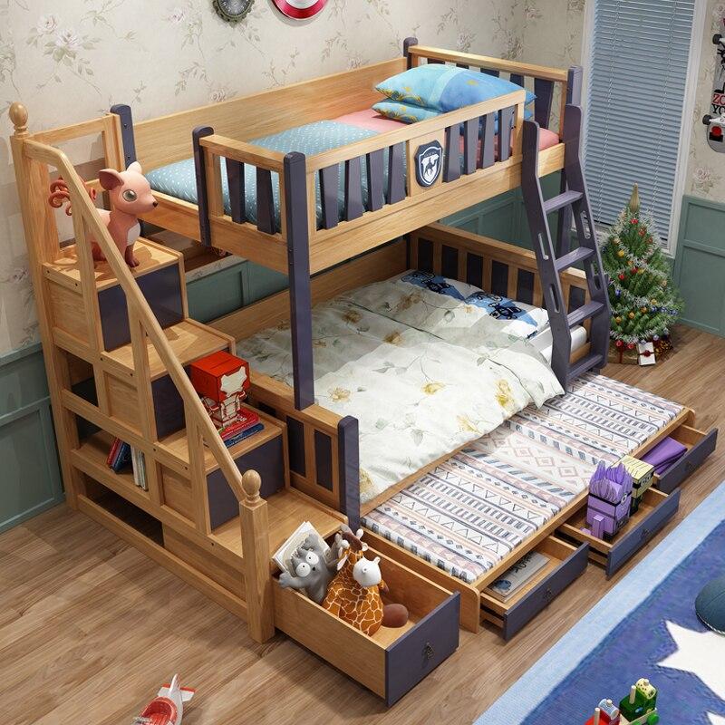 jc pas cher prix meubles lits superposes en bois massif enfants lit tiroirs et echelle