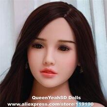 Cabeça de boneca de sexo oral cabeça de boneca de amor de silicone sólido cabeças para homem profundidade oral 13cm altura do corpo apto: 140,145,153,158,161,163,165,168,175cm