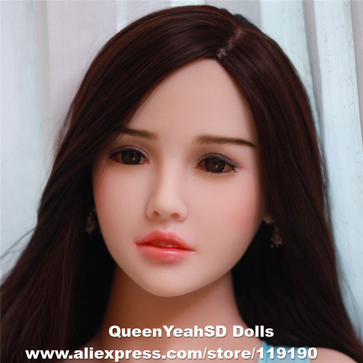 Oral <font><b>Sex</b></font> <font><b>Doll</b></font> Head Solid Silicone Love <font><b>Doll</b></font> Heads For Men Oral Depth 13cm Fit Body Height:140,<font><b>145</b></font>,153,158,161,163,165,168,175cm image