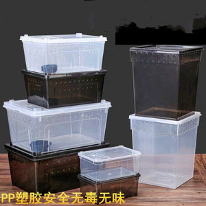 1PCS Crawler Pet Feeding Box Spider Scorpion Snail Horn Frog Insect Breeding Box Insect Box Ants Farm House