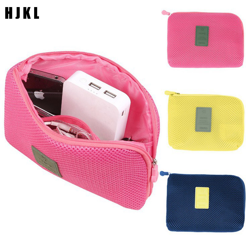 HJKL Creative Shockproof Travel Digital USB Charger Cable Earphone Case Makeup Cosmetic Organizer Accessories BagTravel Accessor