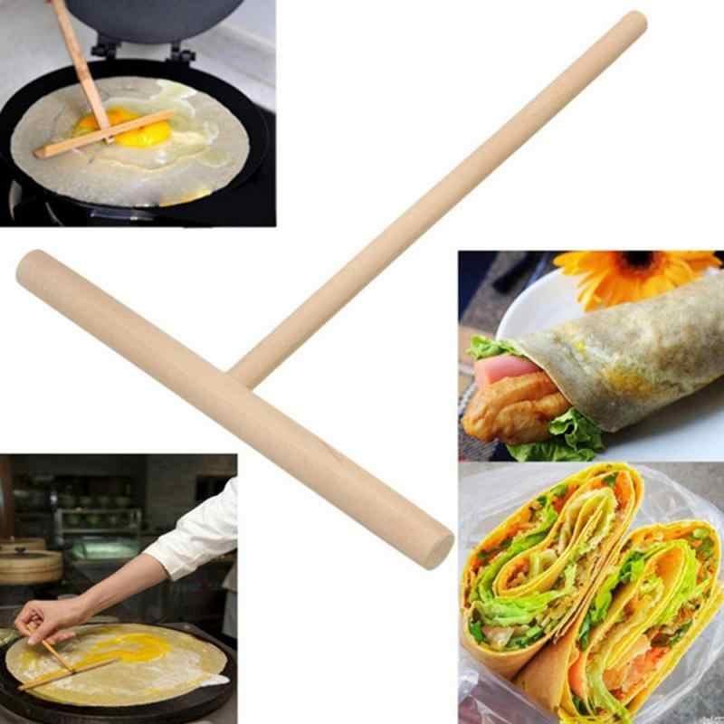 Machine à crêpe en forme de T   Étagère en bois Portable, bâton d'épandage, outils de cuisine domestique, Machine à crêpe, bricolage crêpe batteuse de crêpes