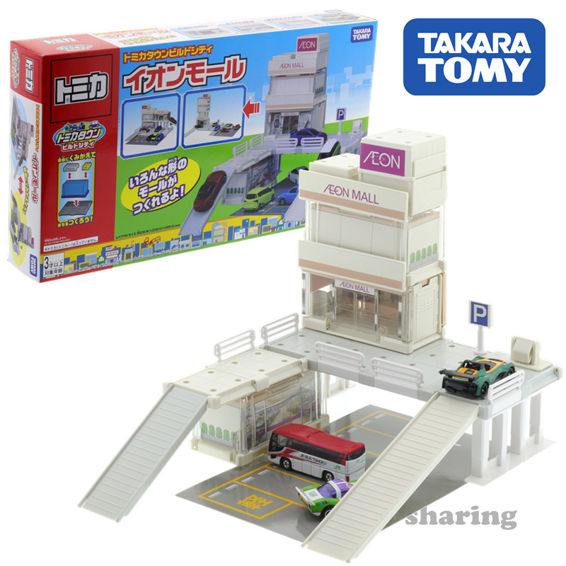 TAKARA Tomy Tomica Town Aeon Mall And Three Dimensional Car Parking Set Diecast Baby Toys Funny Kids Doll