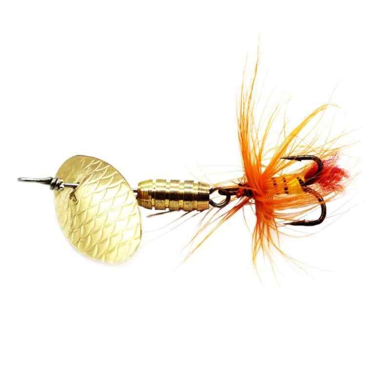 Pullu kaşık balıkçılık Lures Metal fırıldak tüy balıkçılık yemler sazan Pike 2g 3g 4g balıkçılık Hooks CrankBaits mücadele aracı