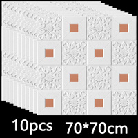 3D Wall Sticker Stereo Ceiling Panel Roof Decor Foam Wallpaper Self-adhesive Waterproof DIY Living Room Decoration TV Background