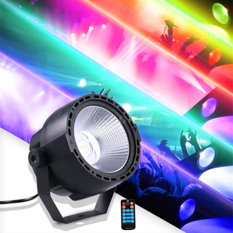 LED Par Lights For Stage Lighting, Super Bright 30W COB RGB+UV Stage Lights By Remote DMX512 Control For Wedding DJ Lights Party