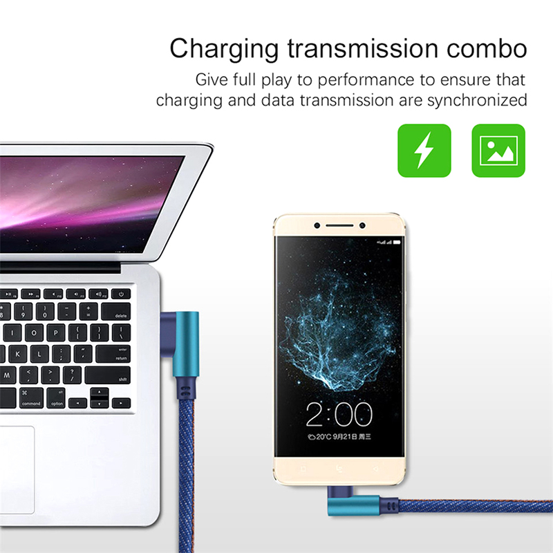 USB Type C 90 Degree Fast Charging usb c Cable Type c Data Cord Charger usb c For Samsung S8 S9 S10 Note 8 Huawei P30 P20 Xiaomi in Mobile Phone Cables from Cellphones Telecommunications