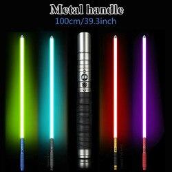 La iluminación de la fiesta luces de utilería Jedi Sith Luke de sable láser Fx pesado duelo recargable cambia de Color con sonido palo de luz