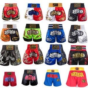 Мужские боксерские штаны для женщин и детей, Муай Тай, ММА шорты для кикбоксинга, борется, борется с тигром, Кроссфит, Bjj Boxen, спортивная одежд...