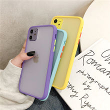 Mint Hybrid Simple Matte Bumper Phone Case For iPhone 11 Pro Max XR XS Max 6S 8 7 Plus Shockproof Soft TPU Silicone Clear Cover cheap Ranipobo Fitted Case Simple Bumper Plain colors matte clear Matte Clear Phone Cases Apple iPhones iPhone 6 iPhone 6 Plus