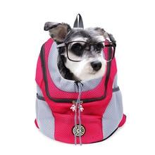 цена на Pet Dog Double Shoulder Portable Backpack Outdoor Carrier For Dog Cat Travel Bag Mesh Oxford Comfort Double Shoulder Head Bag