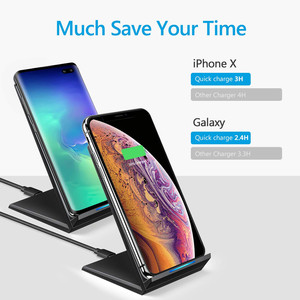 Image 2 - 15W Qi Wireless Charger for Samsung S9 S10 iPhone 11 Pro X XS MAX for Xiaomi mi 9 Huawei P30 pro 10W Fast Wireless Charger Stand