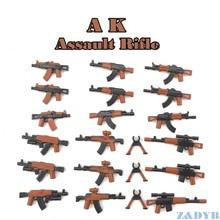 21Pcs Ak Geweren Wapen Pack Gun Militaire Mini Soldaat Figuur WW2 Model Bouwsteen Baksteen Vergrendeling Voor Kinderen kid Speelgoed