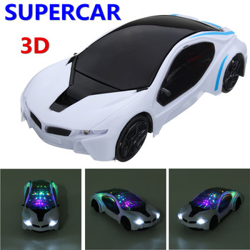 3D Supercar Style Electric Car Toy for Children Wheel Lights Music Kids Boys Girls Gift Toys Vehicles