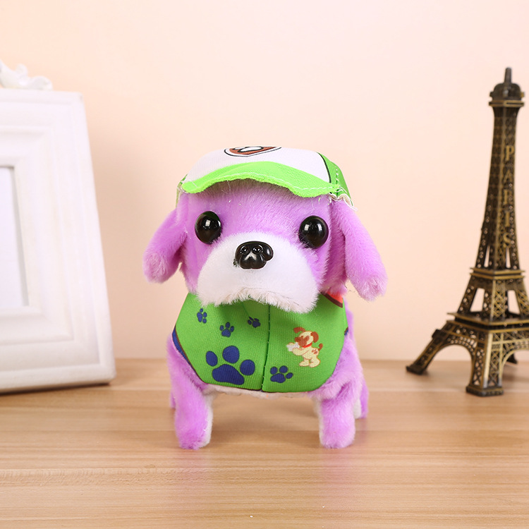 CHILDREN'S Toy Dog Patrol Strange New Electric Plush Toy Dog Night Market Stall Supply Of Goods Hot Selling