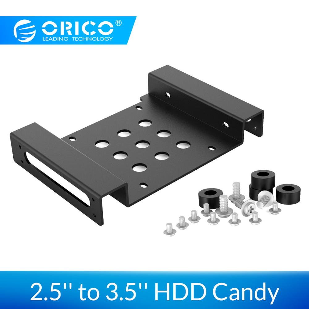ORICO Aluminum 2.5'' to 3.5'' HDD Candy Internal HDD SSD Bracket Mounting Kit with Cooling Design Hard Drive Case Candy|orico aluminum|5.25 inch|3.5 inch - title=