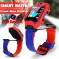 Dual Kamera Anti Verloren Lage Baby Smart Uhr Kinder SOS SIM GMS Telefon Kinder LBS Positioning Tracker Uhren LifeWaterproof-in Smart Watches aus Verbraucherelektronik bei