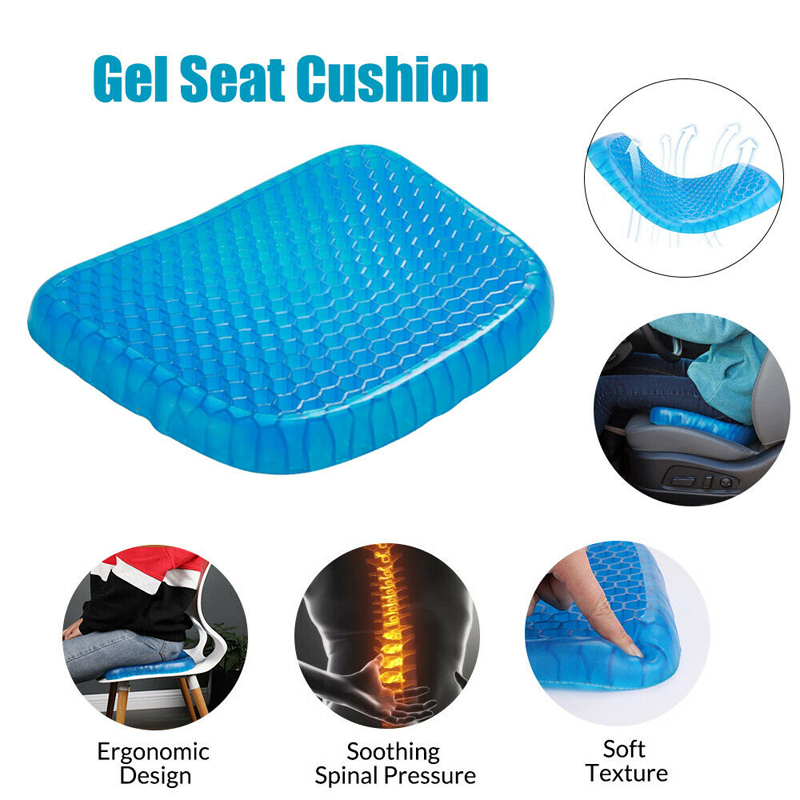 40cm ice pad gel cushion non-slip soft and comfortable outdoor massage office Home Car Cooling Gel chair cushion carpet image