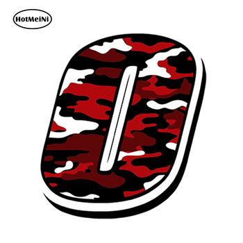 HotMeiNi 13cm x10cm Car Styling RACING NUMBERS VINYL CAMOUFLAGE RED CAR STICKERS MOTOCROSS AUTO BIKE ATV Waterproof Accessories image