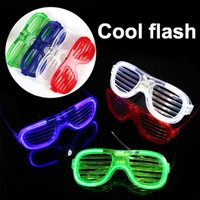 Cool Flash 12pcs Personality Reusable Glow In The Dark Party Supplies LED Glasses Light Up Glasses Toys Neon Party