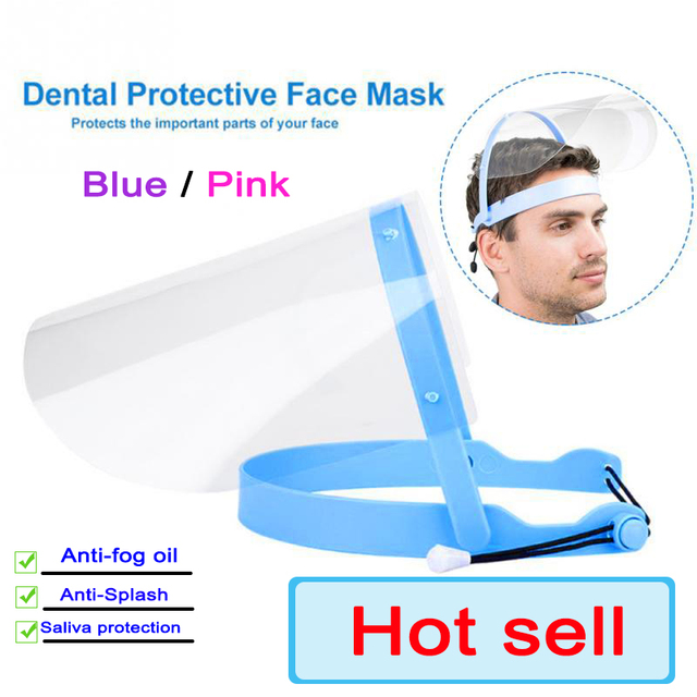 Anti Saliva Dustproof MaskTransparent PVC Safety Faces Shields Screen Spare Visors Head Face Respiratory Tract Protection 1
