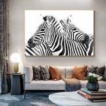 Черно белая линия холст искусство настенные картины абстрактные